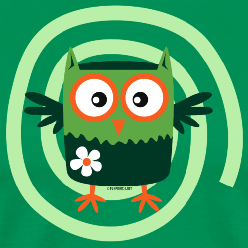FP10-56 FLOWER OWL - TEXTILE AND GIFT PRODUCTS - Miesten premium t-paita