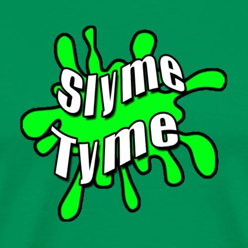 Slyme Tyme Logo / White To Green - Men's Premium T-Shirt