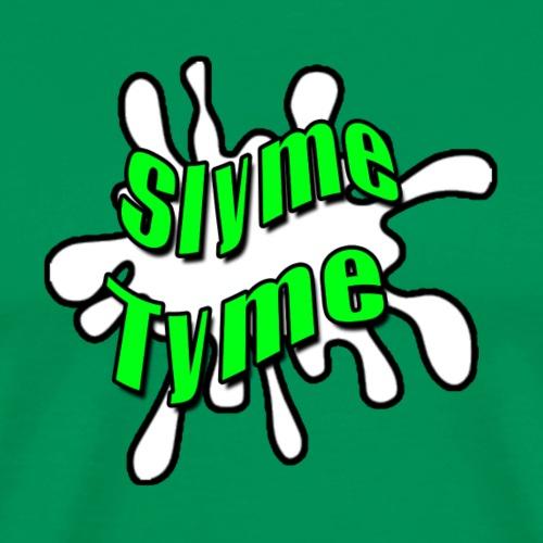 Slyme Tyme Logo / Green To White - Men's Premium T-Shirt
