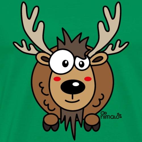 Renne Joyeux Noël Happy Christmas Hiver Drôle - T-shirt Premium Homme