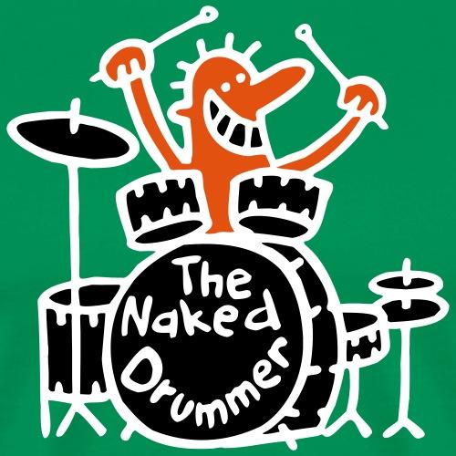 the naked drummer 3farben - Männer Premium T-Shirt