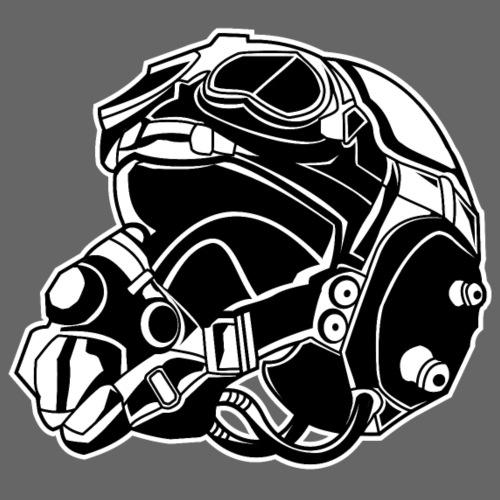 Pilotenhelm / Pilot Helmet 01_schwarz weiß - Männer Premium T-Shirt