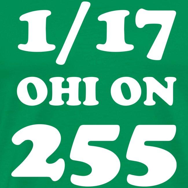 #255831 1/17 Ohi on 255 valkoisella tekstillä