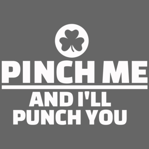 PINCH ME AND I'LL PUNCH YOU - T-shirt Premium Homme