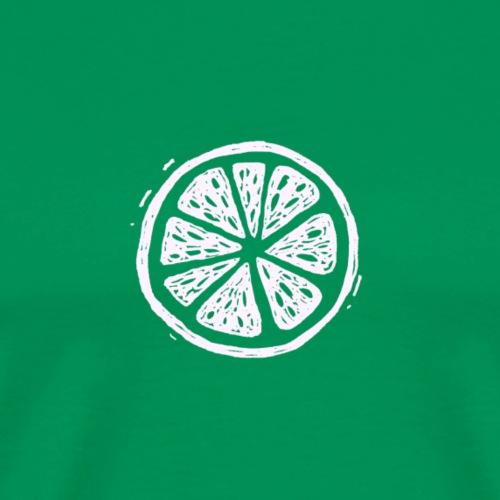 Fructus Logo The Fruit White - Men's Premium T-Shirt
