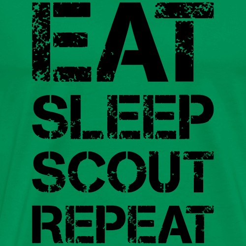 EAT SLEEP SCOUT REPEAT Kreide - Farbe frei wählbar - Männer Premium T-Shirt