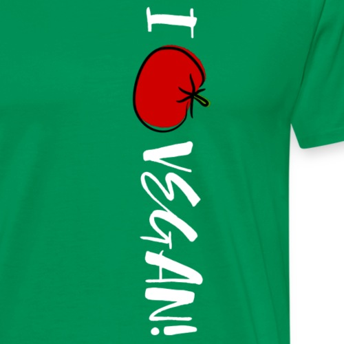 I love vegan - Männer Premium T-Shirt