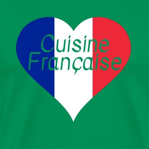 Coeur J'aime cuisine française Cadeau Rengaine - T-shirt Premium Homme