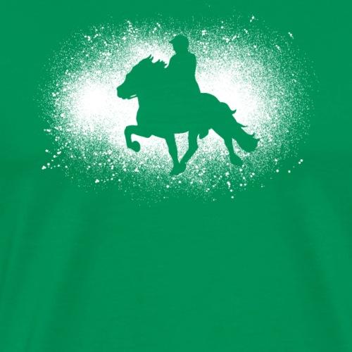 Islande cavalier chevaux de marche cadeau islandais drôle - T-shirt Premium Homme