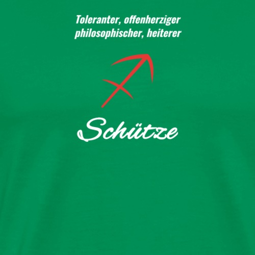 Sternzeichen Zodiak Schütze Geburtstag Dezember - Männer Premium T-Shirt