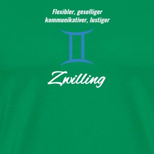 Sternzeichen Zodiak Zwilling Geburtstag Mai Juni - Männer Premium T-Shirt