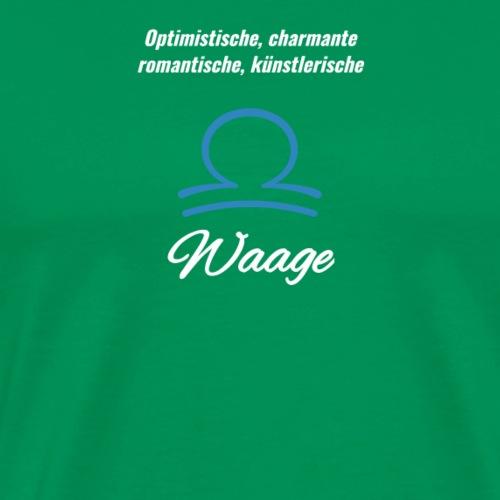 Sternzeichen Zodiak Waage Geburtstag Oktober - Männer Premium T-Shirt