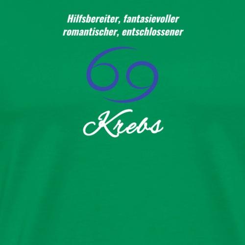 Sternzeichen Zodiak Krebs Geburtstag Juni Juli - Männer Premium T-Shirt
