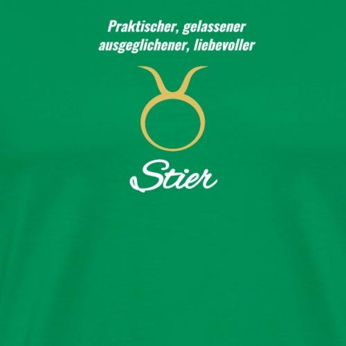 Sternzeichen Zodiak Stier Geburtstag April Mai - Männer Premium T-Shirt