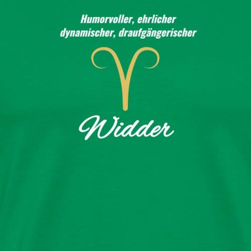 Sternzeichen Zodiak Widder Geburtstag März April - Männer Premium T-Shirt