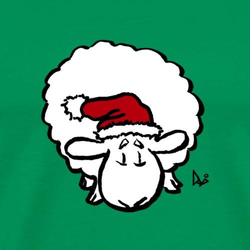 Weihnachtsschaf (rot) - Männer Premium T-Shirt