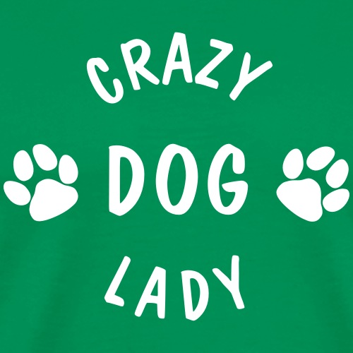 crazy dog lady - Männer Premium T-Shirt
