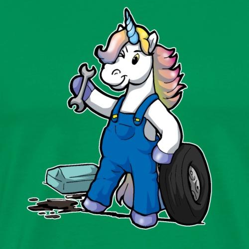 Drôle de BD Licorne cadeau de mécanicien automobile - T-shirt Premium Homme