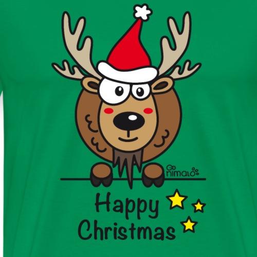 Papa Renne, Noël - Happy Christmas - T-shirt Premium Homme