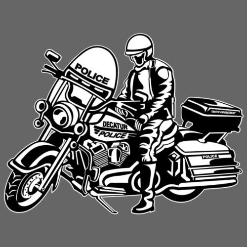 Motorradpolizei / Motorcycle Police 1_schwarz weiß - Männer Premium T-Shirt