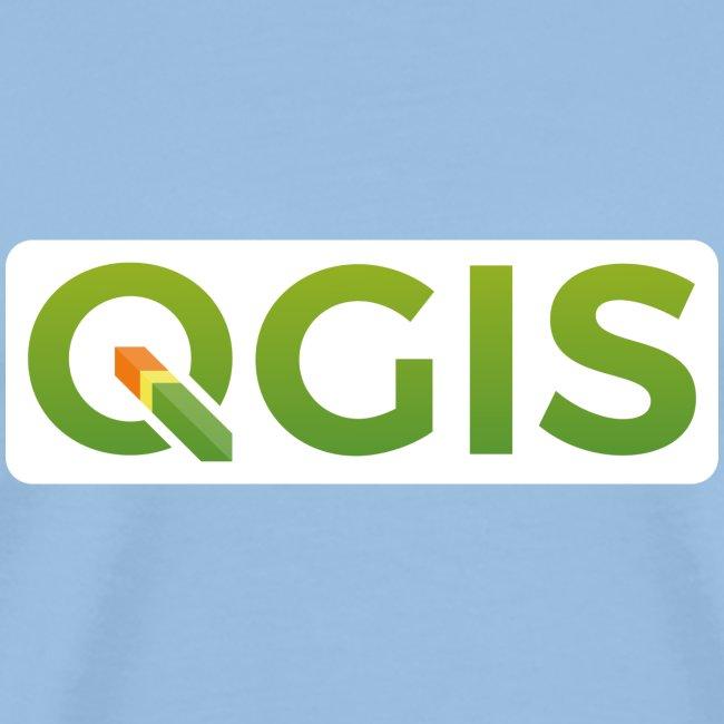 QGIS text logo (white)