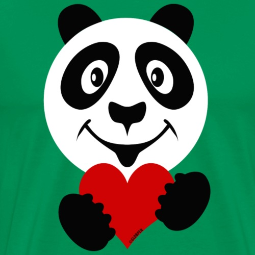 PANDA HEART Tekstiles and Gift products FP10-51A - Miesten premium t-paita