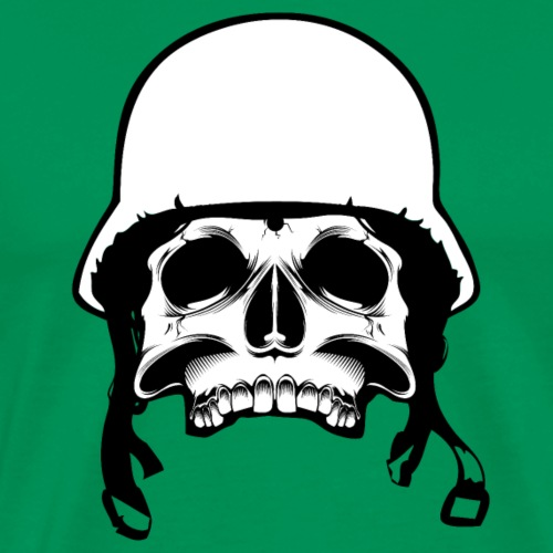 Soldier Helmet Skull 2c - Men's Premium T-Shirt
