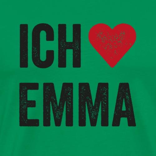 Ich liebe Emma schwarz - Männer Premium T-Shirt