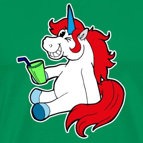Drôle de licorne insolente Boire cadeau limo - T-shirt Premium Homme
