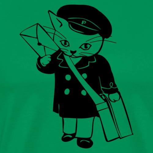 Briefträger Katze - Männer Premium T-Shirt