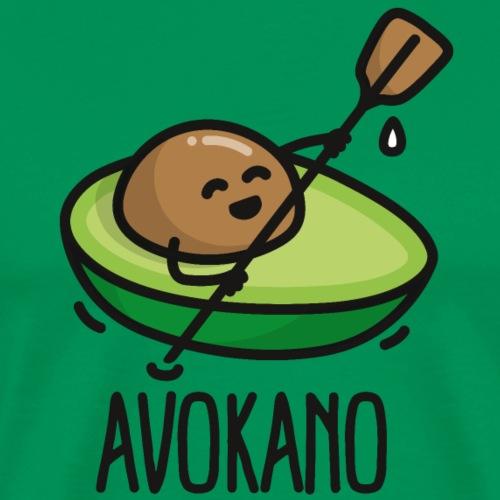 Avokano grappige avocado kano varen kanoën Kajak - Mannen Premium T-shirt