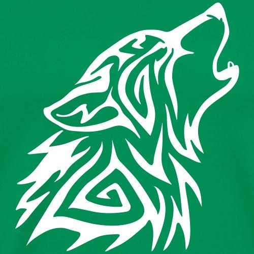 Howling Tribal Wolf - Premium-T-shirt herr