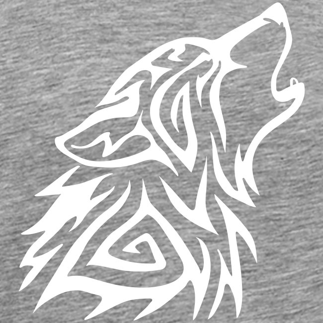 Howling Tribal Wolf