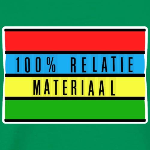 relatiemateriaal 100% - Mannen Premium T-shirt