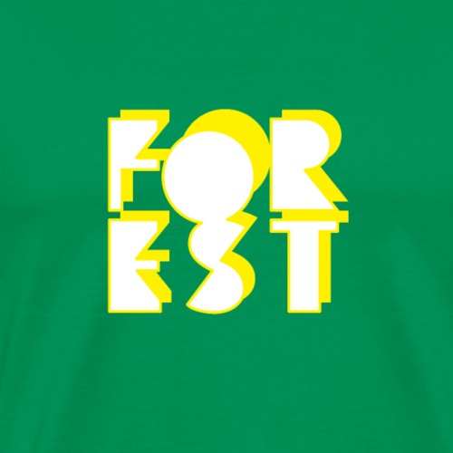 Forest Logo Yellow and White - Men's Premium T-Shirt