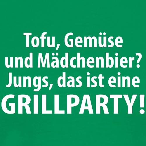 Tofu Gemüse Mädchenbier Grillparty Fleisch Steak - Men's Premium T-Shirt