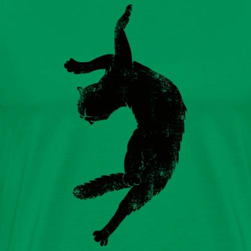 Flying cat - Premium-T-shirt herr
