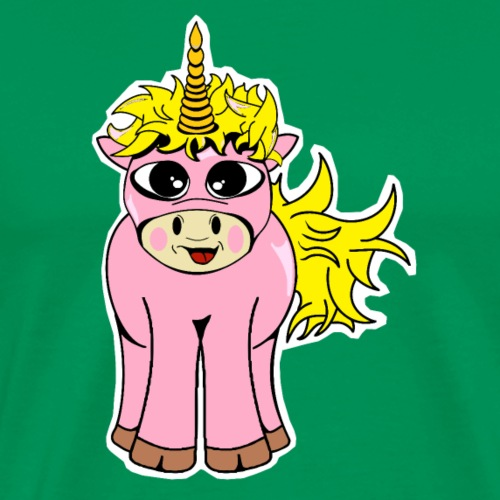Unicorn female smile - T-shirt Premium Homme