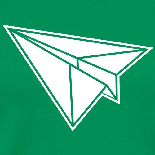 1 color - Origami Papierflugzeug Jet Papierflieger - Männer Premium T-Shirt