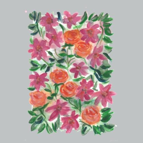 RoseundClematis - Männer Premium T-Shirt