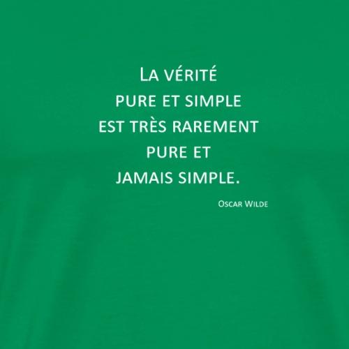 Vérité - Oscar Wilde - T-shirt Premium Homme