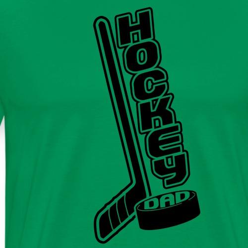 Hockey Dad, Stick & Puck - Men's Premium T-Shirt