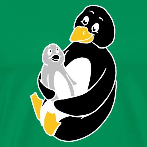 Drôle de pingouin Papa Idée cadeau des parents - T-shirt Premium Homme
