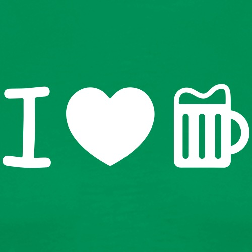 i love beer heart Biergarten Glas Herz Durst Prost - Men's Premium T-Shirt