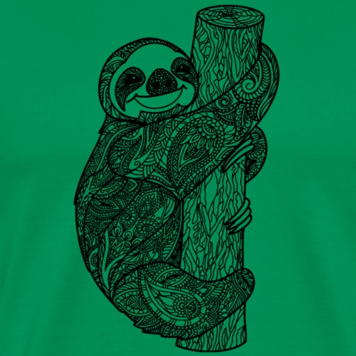 Sloth zentangle - Men's Premium T-Shirt