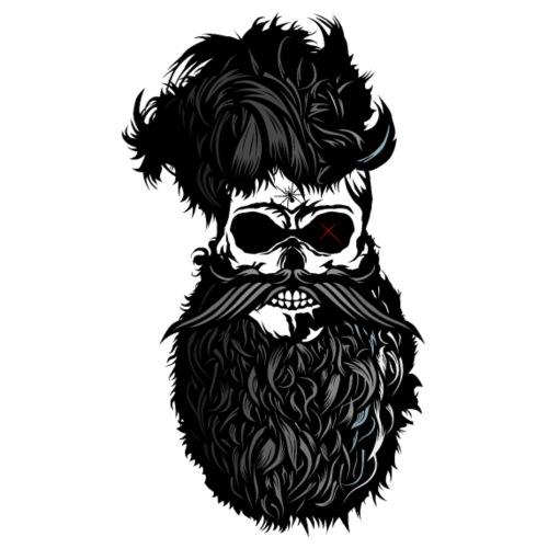 tete de mort barbu hipster barbu moustache crane s - T-shirt Premium Homme