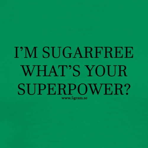 SUGARFREE SUPERPOWER BLACK - Premium-T-shirt herr