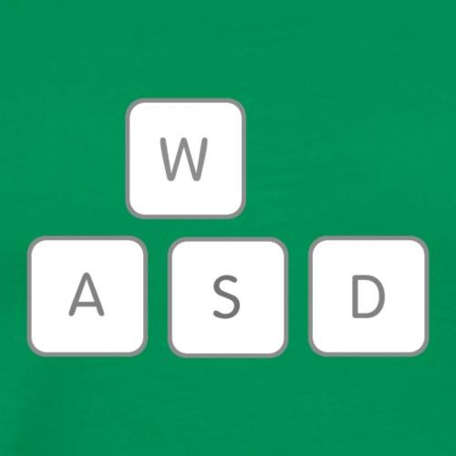 WASD Gamer Gaming Keyboard Meme - Men's Premium T-Shirt