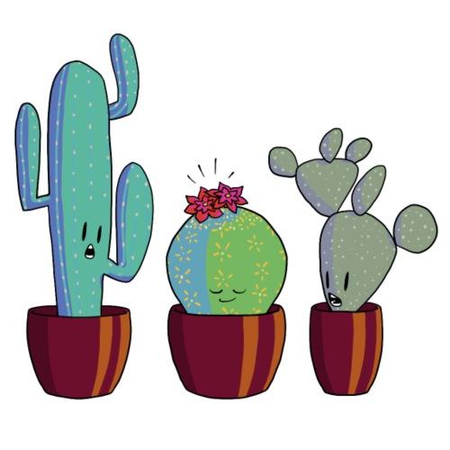 Cactus in bloom - Mannen Premium T-shirt