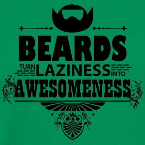 beards_laziness_awesomeness 10x - Mannen Premium T-shirt